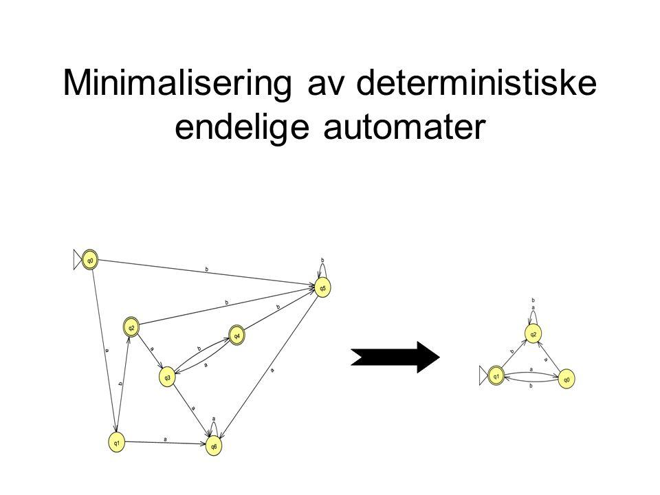 Minimalisering av deterministiske endelige automater