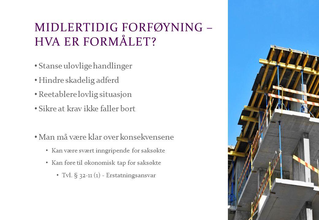 Advokatfirmaet Schjødt AS MIDLERTIDIG FORFØYNING I UTLANDET Norske forføyninger kan tvangsfullbyrdes i EU/EØS land Mange land har tilsvarende regler som Norge om midlertidig forføyning Hvis norske domstoler ikke har domskompetanse bør forføyning i utlandet vurderes Kan være aktuelt å koordinere med forføyninger både i Norge og i utlandet Viktig å ha godt samarbeid med utenlandske rådgivere