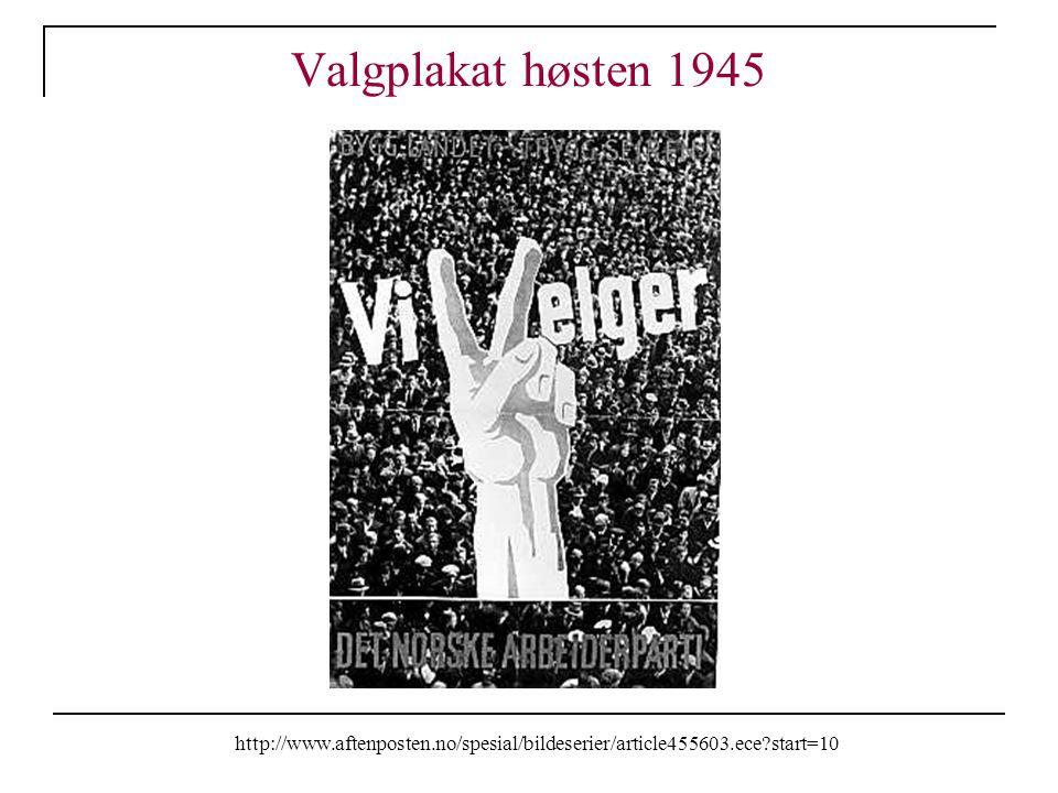 Valgplakat høsten 1945 http://www.aftenposten.no/spesial/bildeserier/article455603.ece?start=10