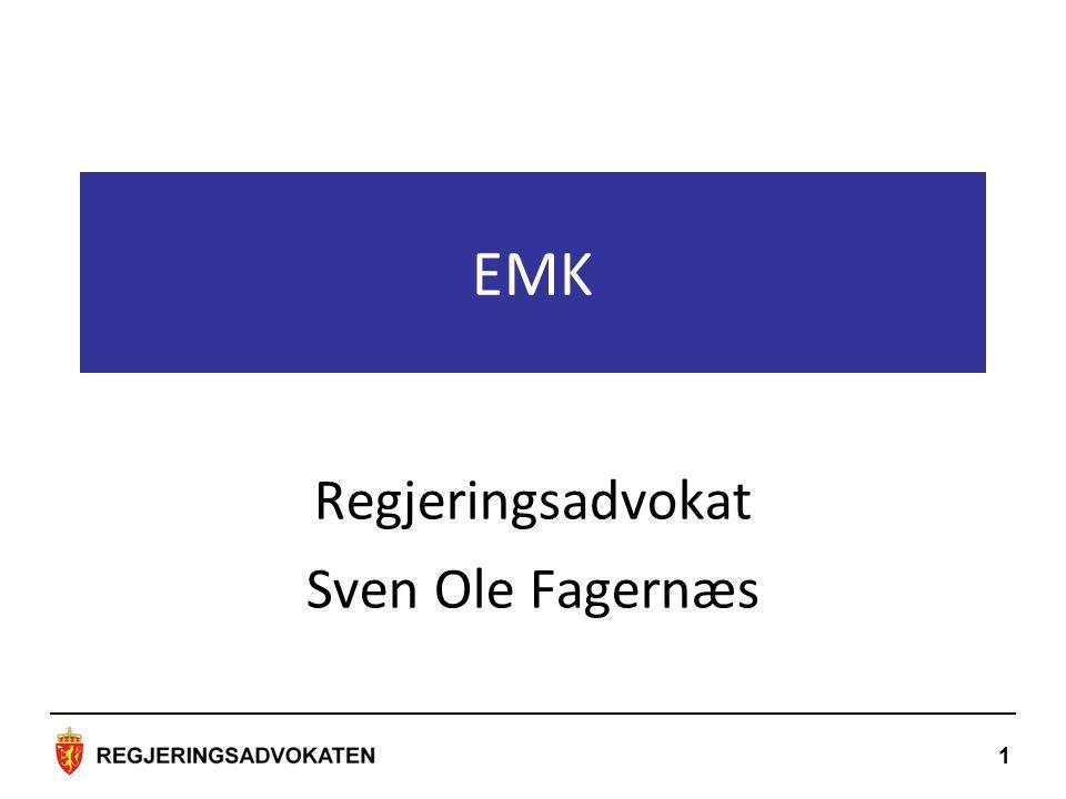 Regjeringsadvokat Sven Ole Fagernæs EMK 1