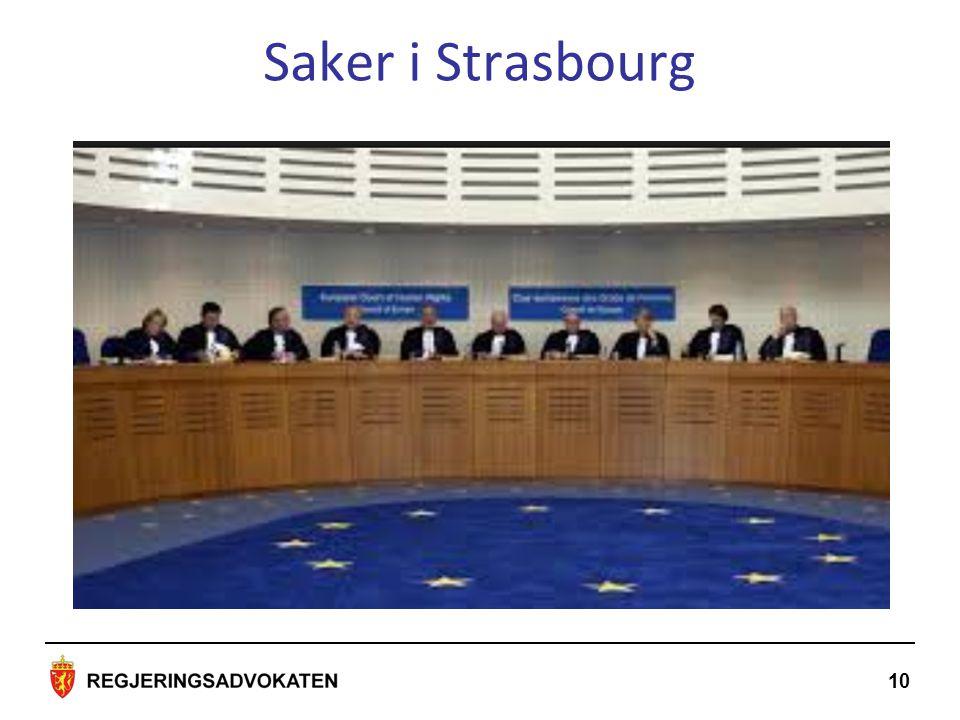10 Saker i Strasbourg