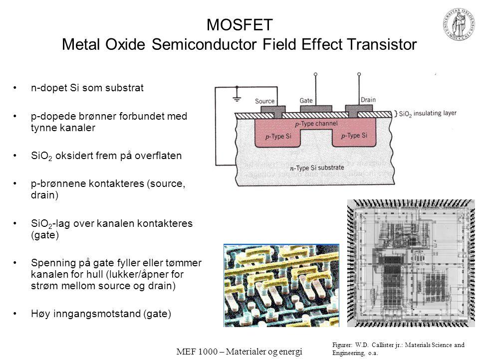 MEF 1000 – Materialer og energi Transistorer pnp og npn Kollektor-base er stengt av en stor negativ polarisering Uten polarisering av emitter-base. Ko