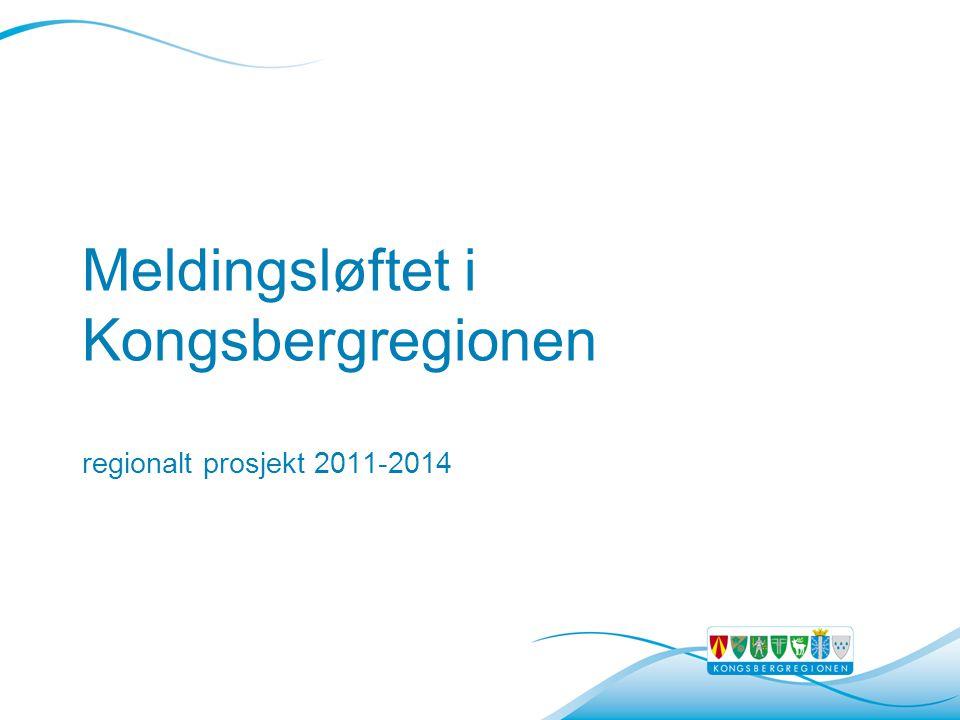 Meldingsløftet i Kongsbergregionen regionalt prosjekt 2011-2014