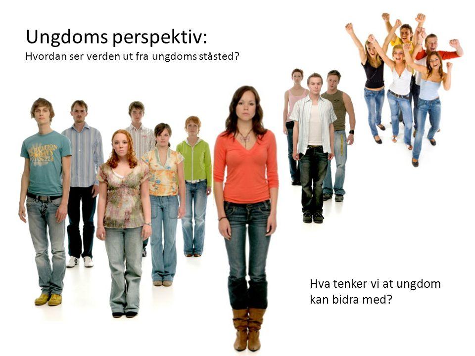 Ungdoms perspektiv: Hvordan ser verden ut fra ungdoms ståsted? Hva tenker vi at ungdom kan bidra med?