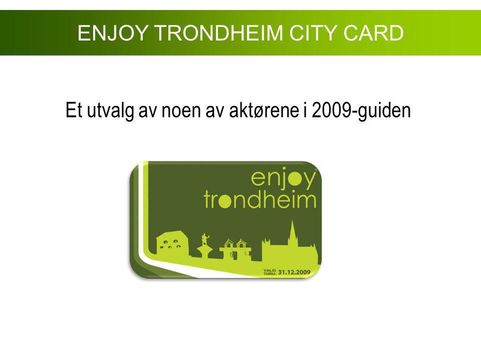 Et utvalg av noen av aktørene i 2009-guiden ENJOY TRONDHEIM CITY CARD