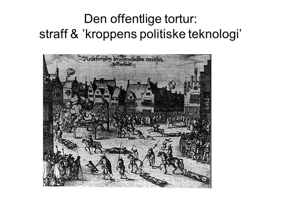 Den offentlige tortur: straff & 'kroppens politiske teknologi'