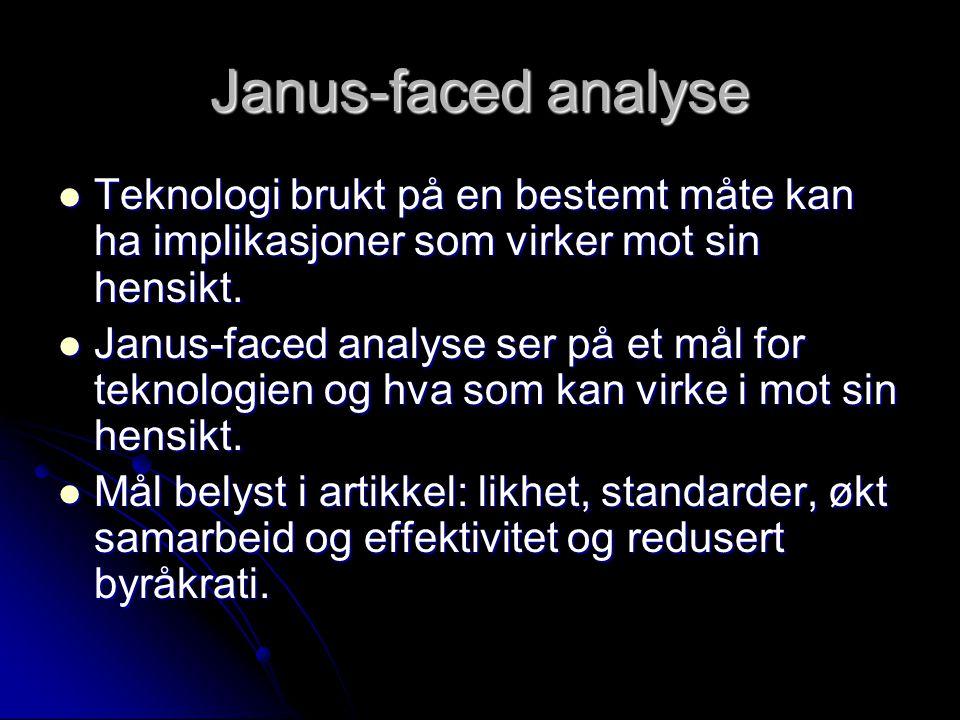 Janus-faced analyse Teknologi brukt på en bestemt måte kan ha implikasjoner som virker mot sin hensikt.