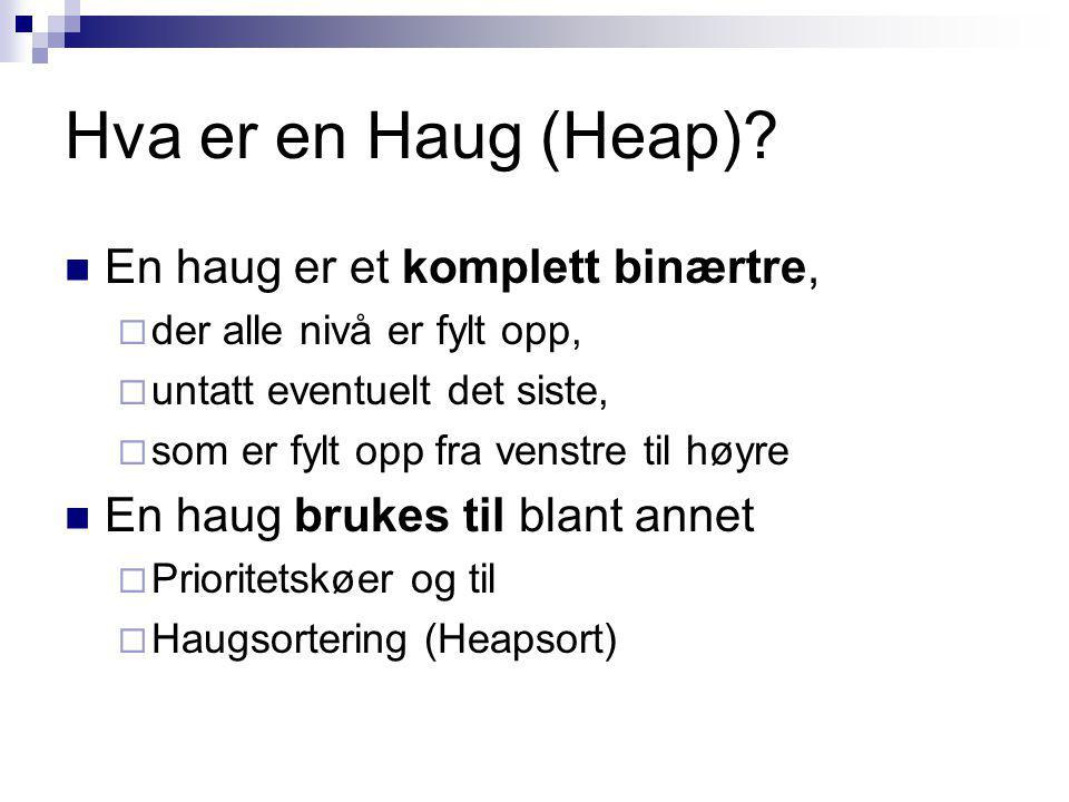 Hva er en Haug (Heap).
