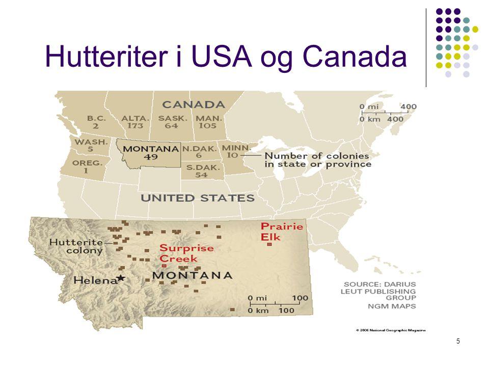 5 Hutteriter i USA og Canada