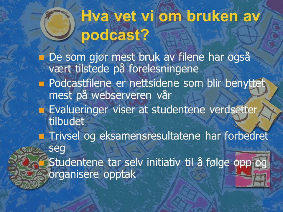 Hva vet vi om bruken av podcast.