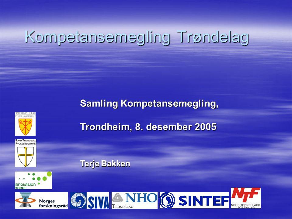 Kompetansemegling Trøndelag Samling Kompetansemegling, Trondheim, 8. desember 2005 Terje Bakken