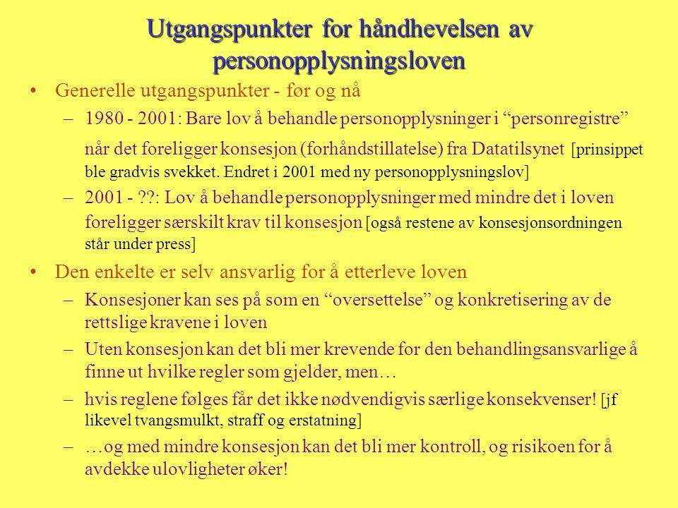 Konsesjons- og meldeplikt Datatilsynets og Personvernnemndas oppgaver og myndighet Prof.