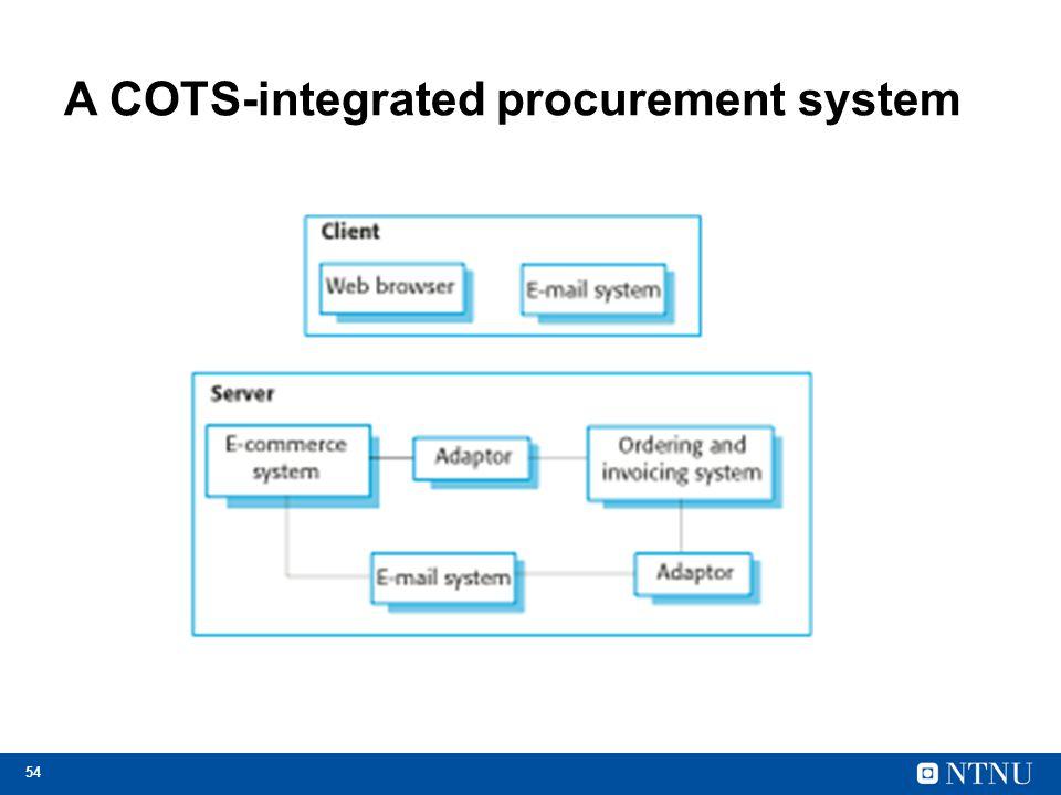 54 A COTS-integrated procurement system