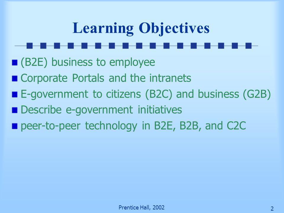 Prentice Hall, 2002 22 Portal versus Desktop Desktop Access everything (messy, not org.