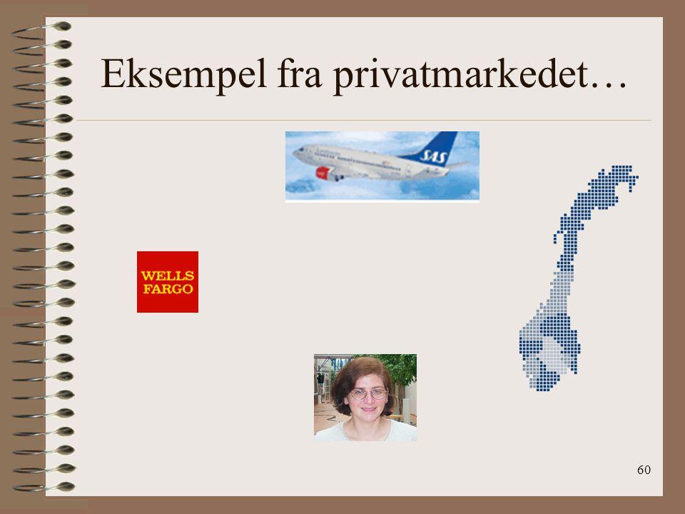 59 Privatmarkedet Brukervennlighet Online valuta handel Geografi er irrelevant Sanntids kurs oppdatering Forenkler sammenligning av priser Lavere kost