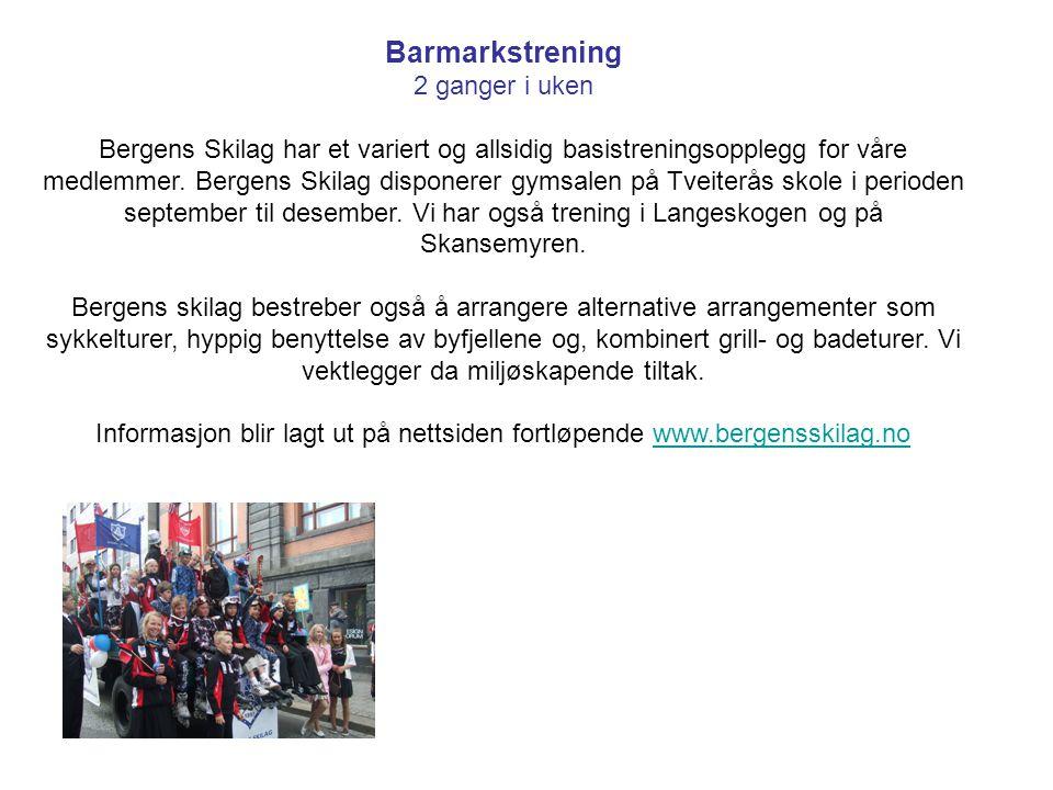 Skisesongen Vinter/Vår/Høst Bergens skilag tilbyr trening passende både for rekrutt og viderekomne.