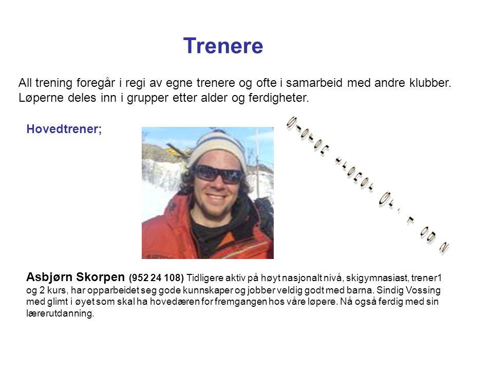 Trener (Gruppe 1 og 2); Håkon (996 90 787) Eks skigymnasiast og løper på høyt nasjonalt nivå.