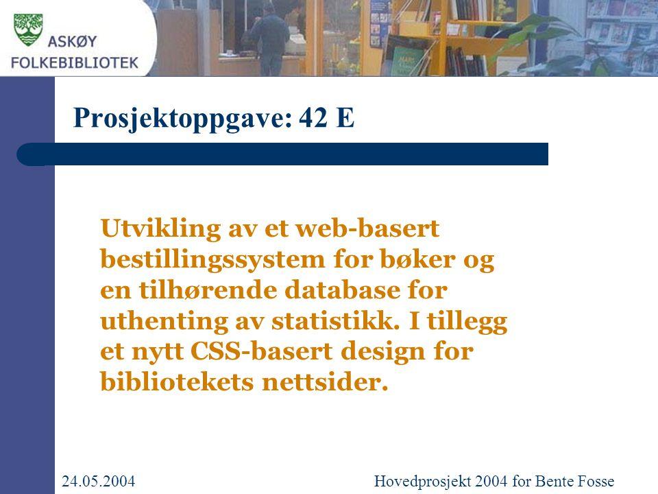 Utvikling av et web-basert bestillingssystem for bøker og en tilhørende database for uthenting av statistikk.