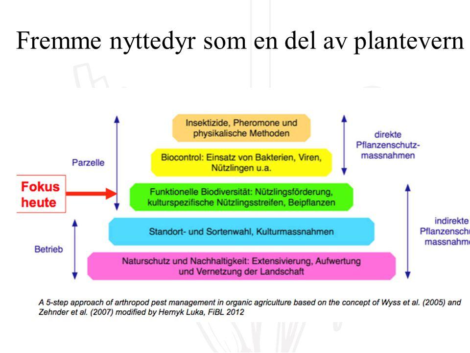 Fremme nyttedyr som en del av plantevern