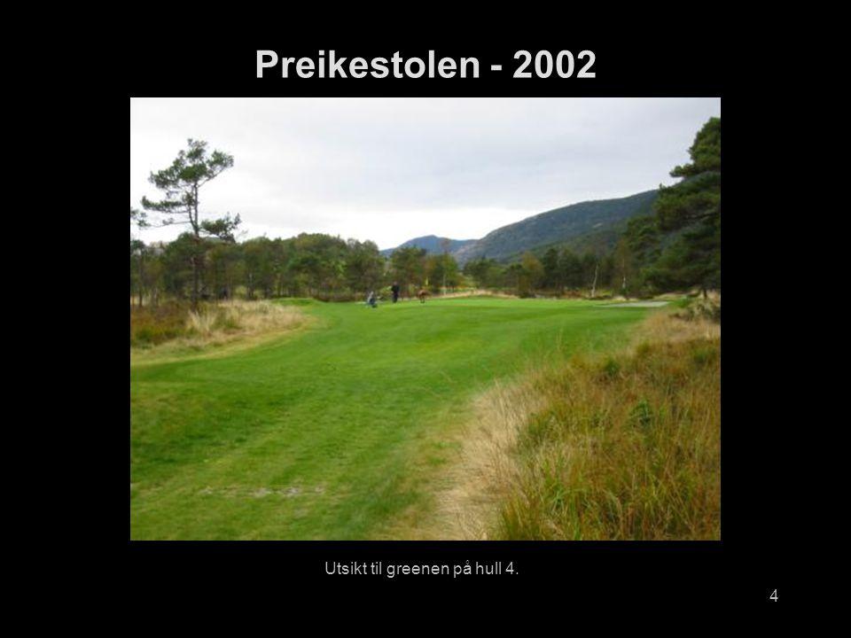 4 Utsikt til greenen på hull 4. Preikestolen - 2002