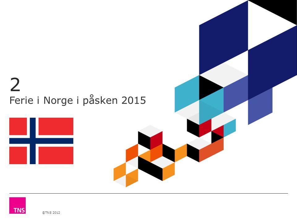 ©TNS 2012 2 Ferie i Norge i påsken 2015