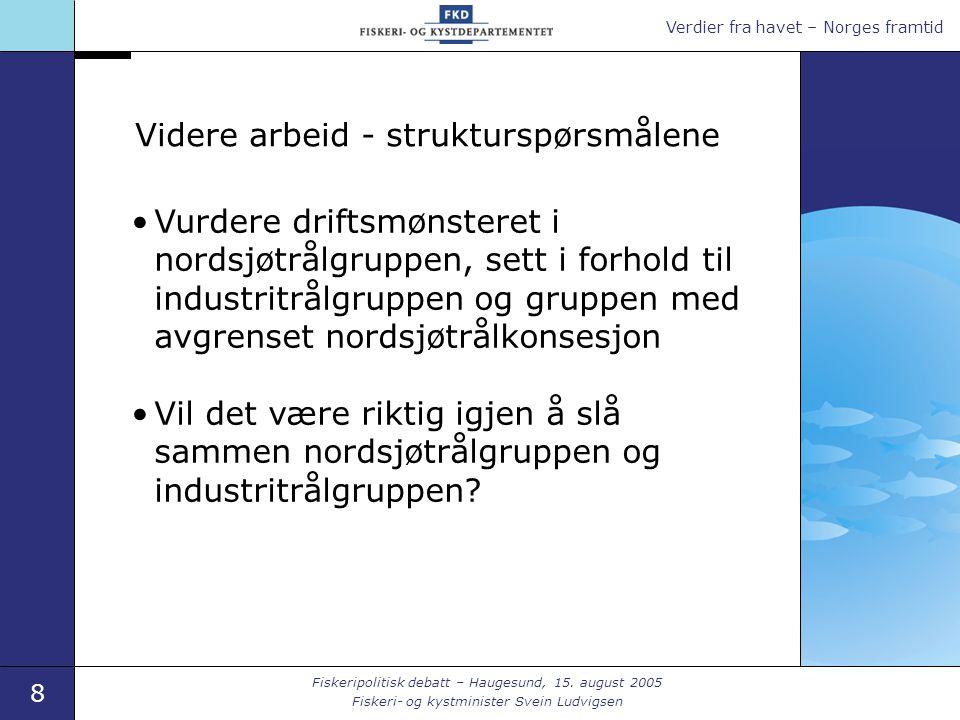 Verdier fra havet – Norges framtid 8 Fiskeripolitisk debatt – Haugesund, 15.