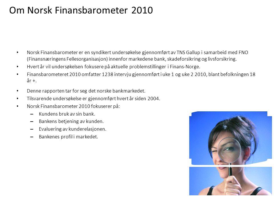 Norsk Finansbarometer er en syndikert undersøkelse gjennomført av TNS Gallup i samarbeid med FNO (Finansnæringens Fellesorganisasjon) innenfor markedene bank, skadeforsikring og livsforsikring.