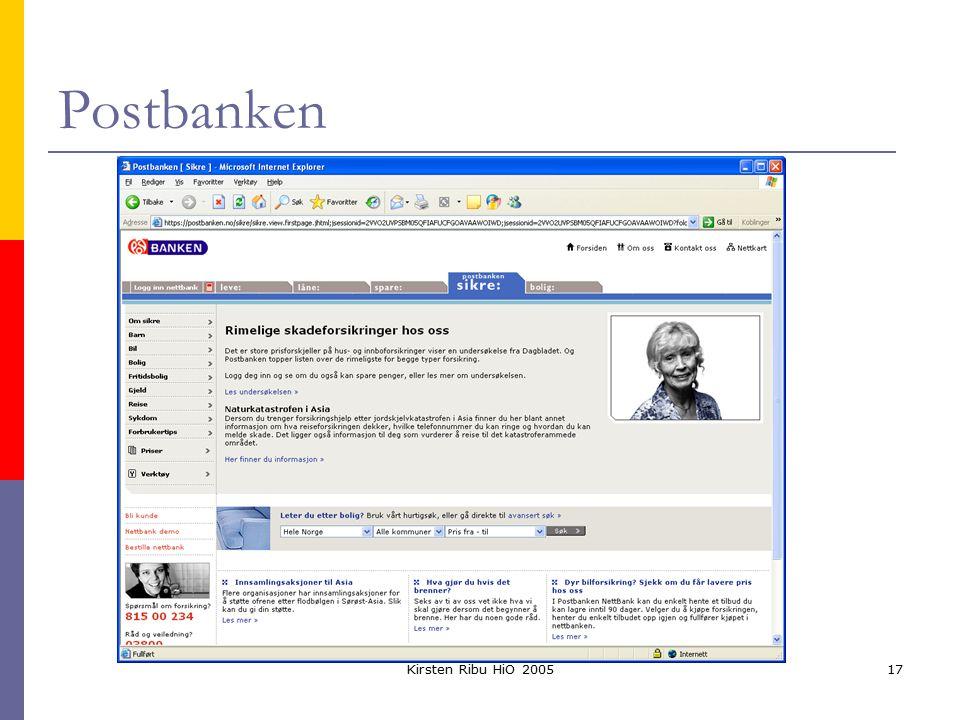 Kirsten Ribu HiO 200517 Postbanken