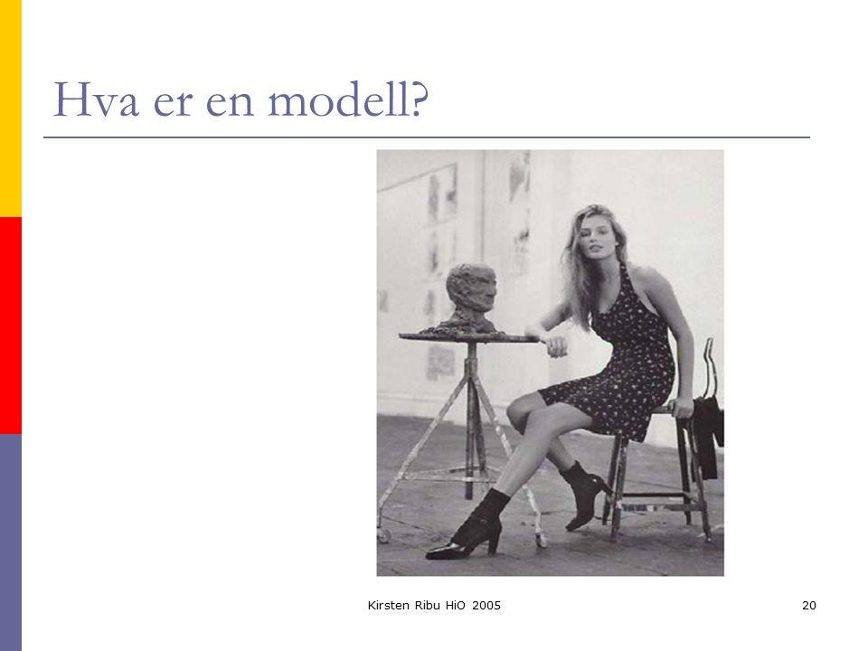 Kirsten Ribu HiO 200520 Hva er en modell