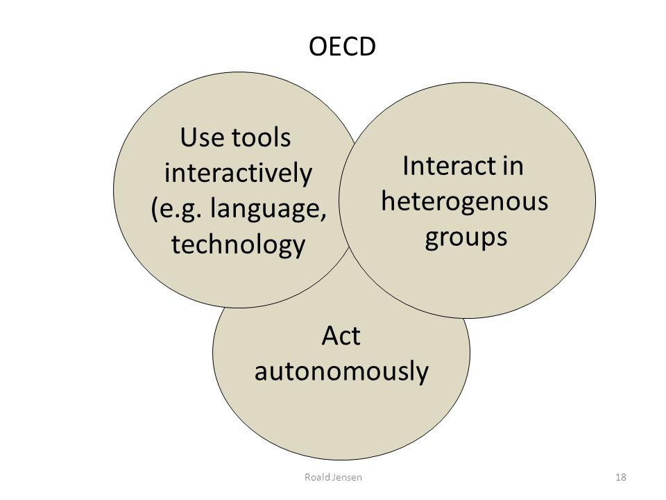 Roald Jensen Act autonomously Use tools interactively (e.g. language, technology Interact in heterogenous groups OECD 18