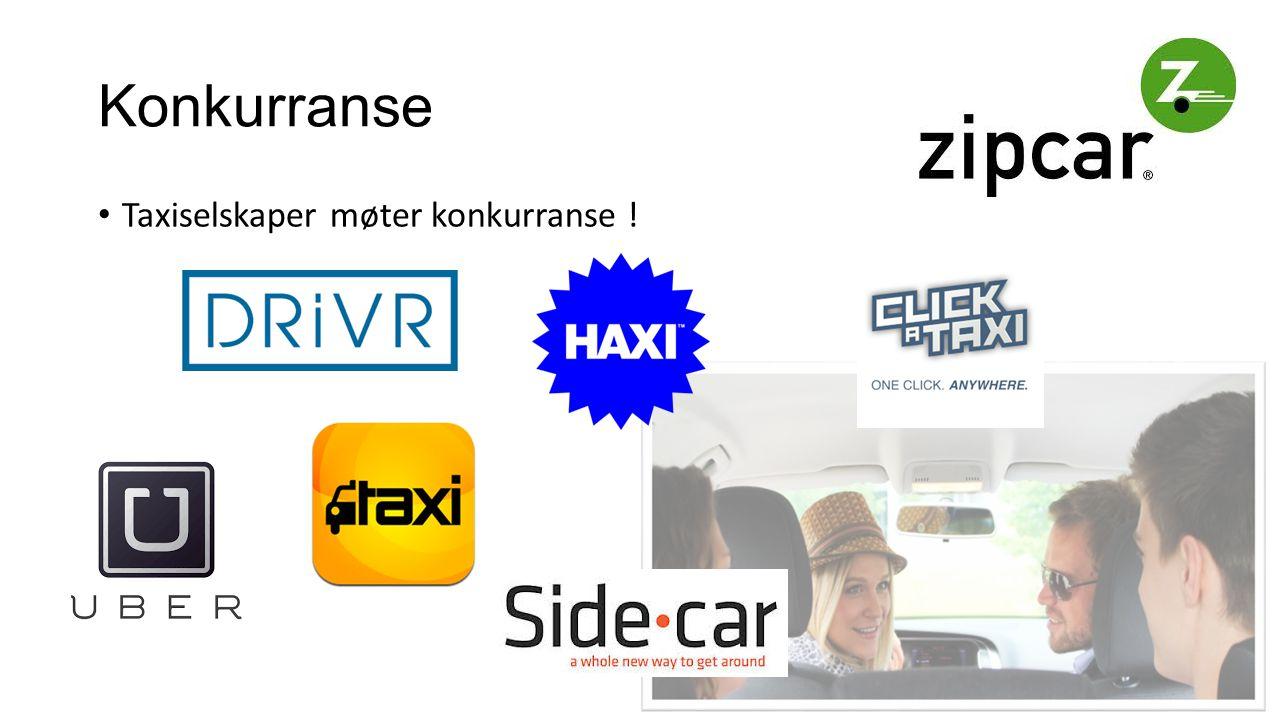 Konkurranse Taxiselskaper møter konkurranse !