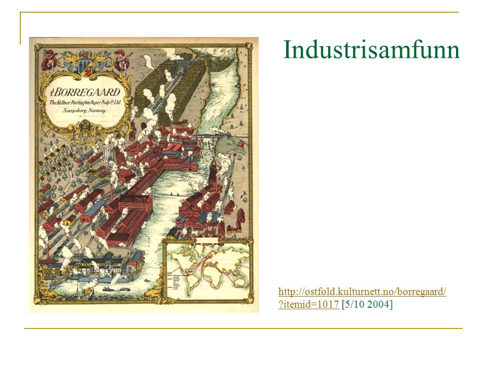 http://ostfold.kulturnett.no/borregaard/ ?itemid=1017http://ostfold.kulturnett.no/borregaard/ ?itemid=1017 [5/10 2004] Industrisamfunn