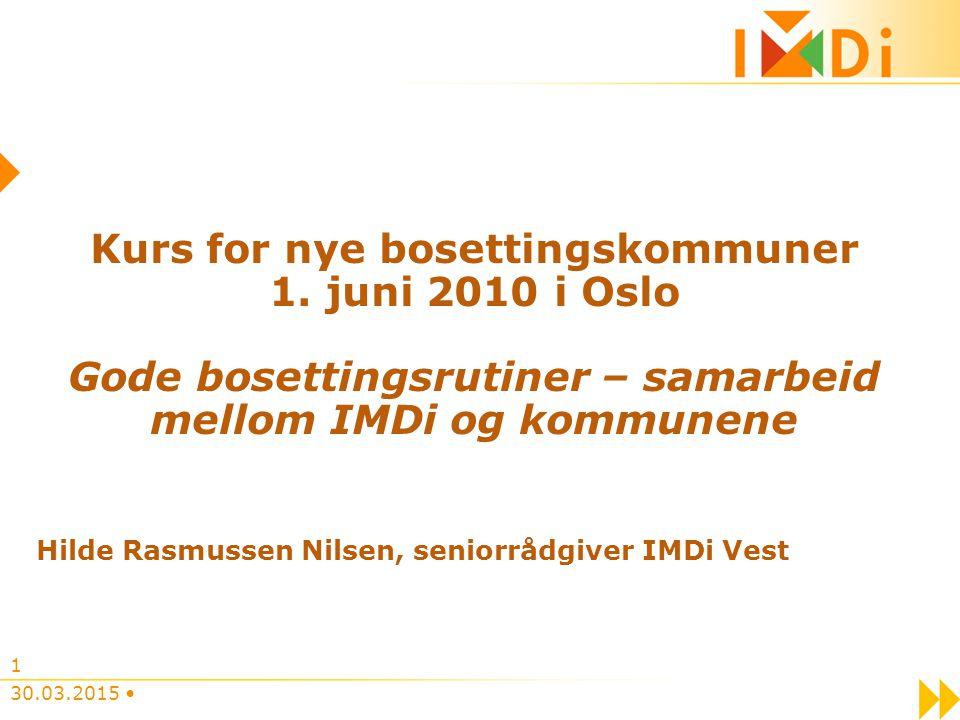 Samarbeid mellom kommunen og IMDi Bosetting av flyktninger er en løpende oppgave.