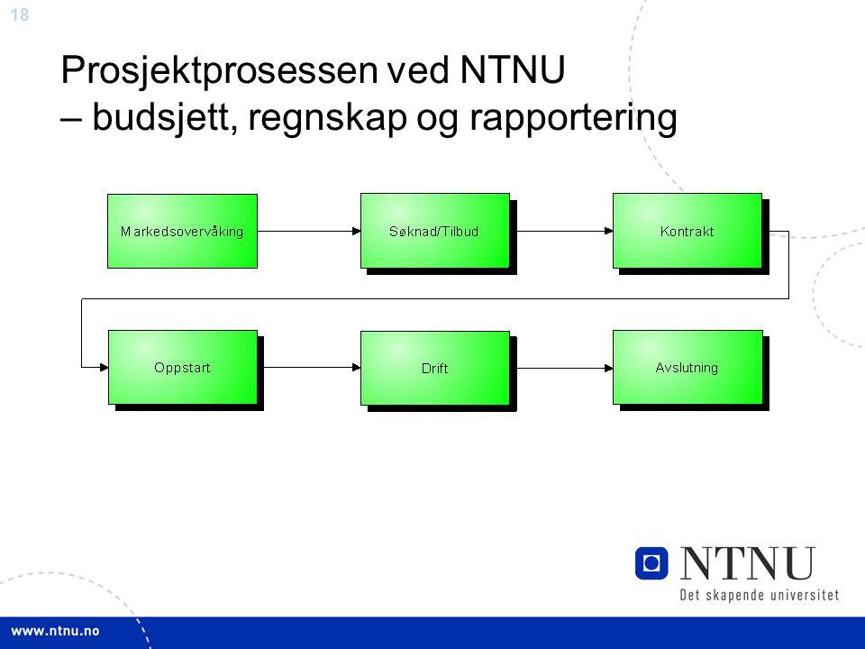 18 Prosjektprosessen ved NTNU – budsjett, regnskap og rapportering