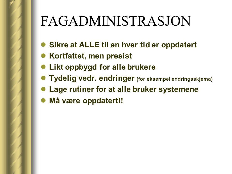 FAGADMINISTRASJON