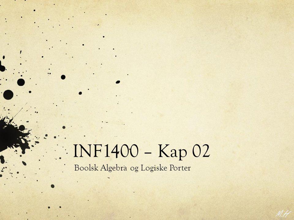 INF1400 – Kap 02 Boolsk Algebra og Logiske Porter