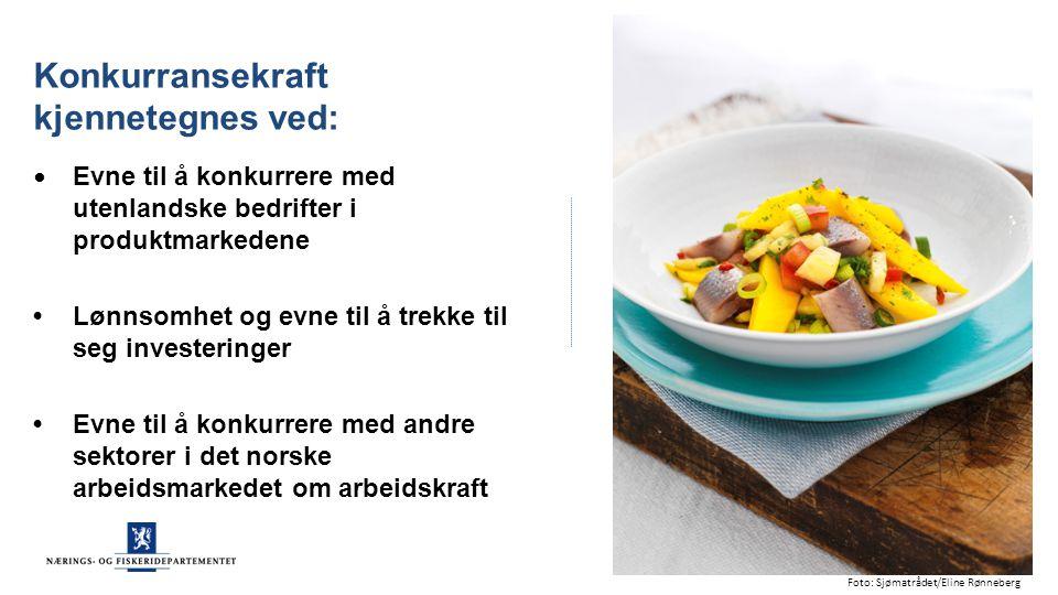Et godt utgangspunkt Bærekraftig forvaltede bestander Eksportrekord for norsk sjømat i 2014 Helsebringende sjømat Globalt ledende kunnskapsmiljøer Kilde: Sjømatrådet 2015