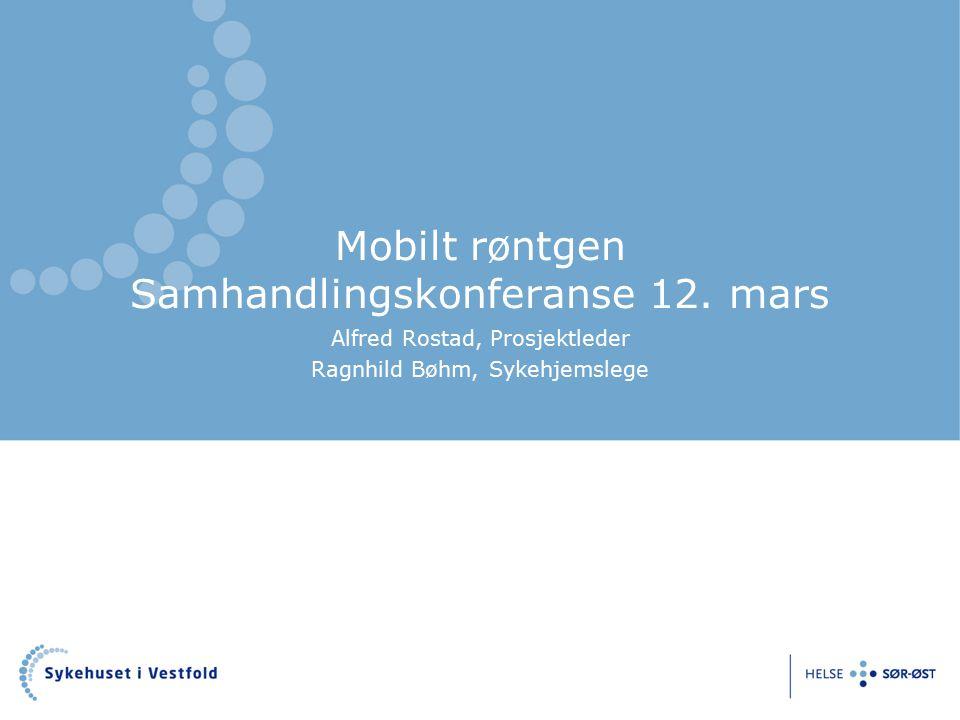 Mobilt røntgen Samhandlingskonferanse 12.