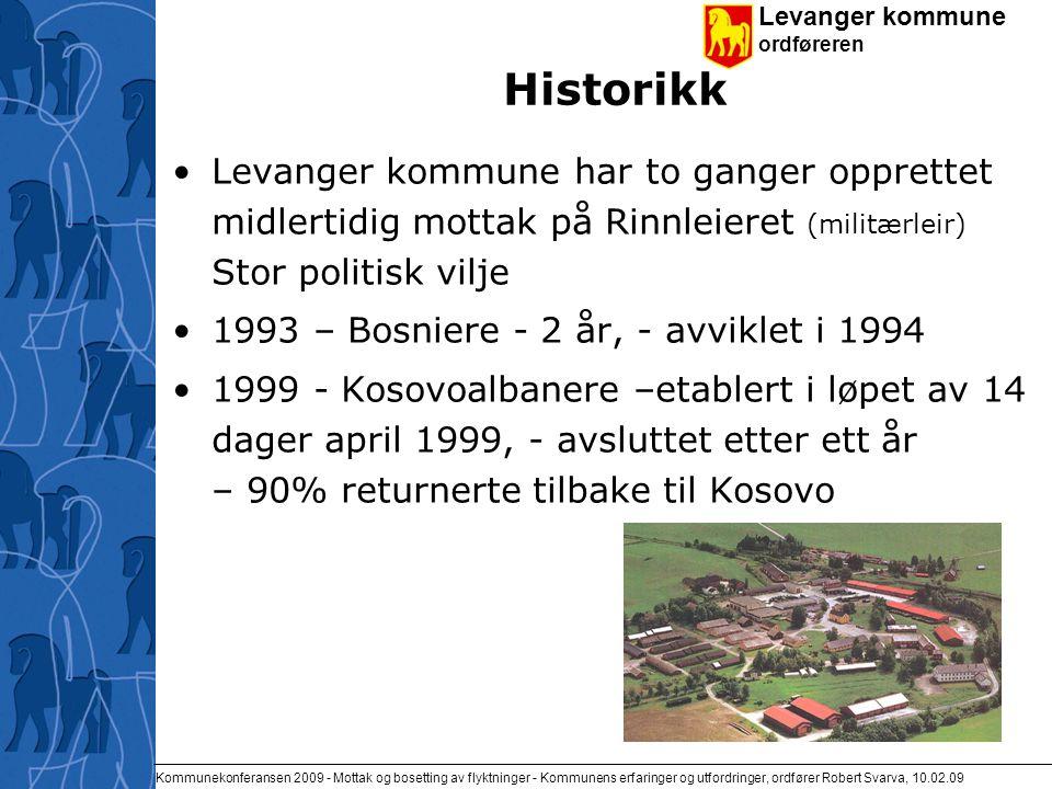 Levanger kommune ordføreren Kommunekonferansen 2009 - Mottak og bosetting av flyktninger - Kommunens erfaringer og utfordringer, ordfører Robert Svarva, 10.02.09 Takk for meg