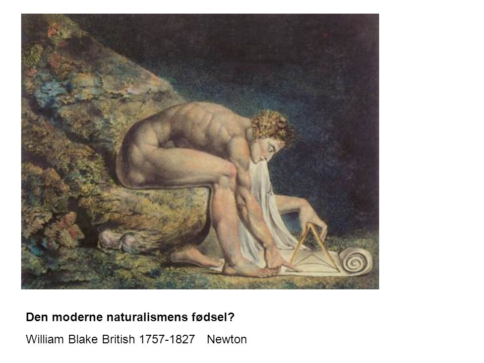 Den moderne naturalismens fødsel? William Blake British 1757-1827 Newton
