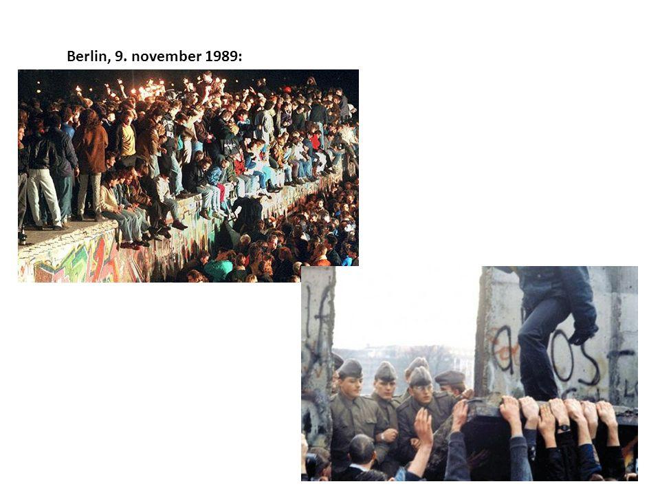 Berlin, 9. november 1989:
