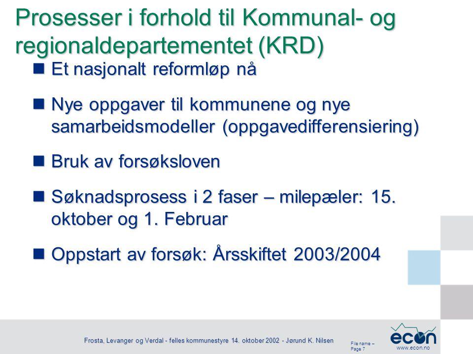File name – Page 7 www.econ.no Frosta, Levanger og Verdal - felles kommunestyre 14.