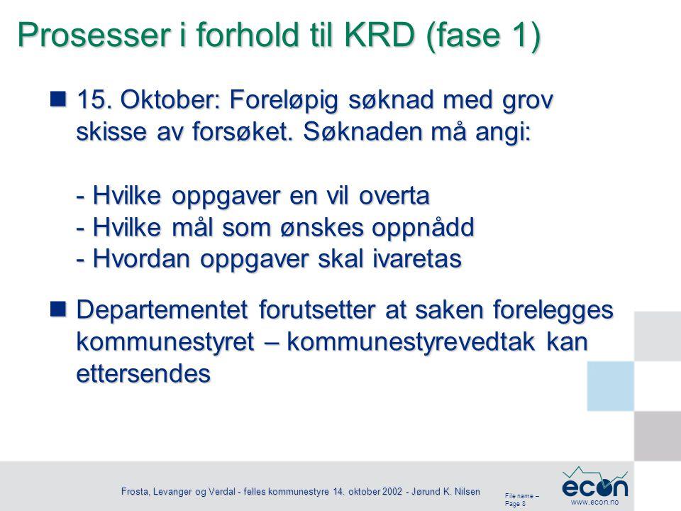 File name – Page 8 www.econ.no Frosta, Levanger og Verdal - felles kommunestyre 14.
