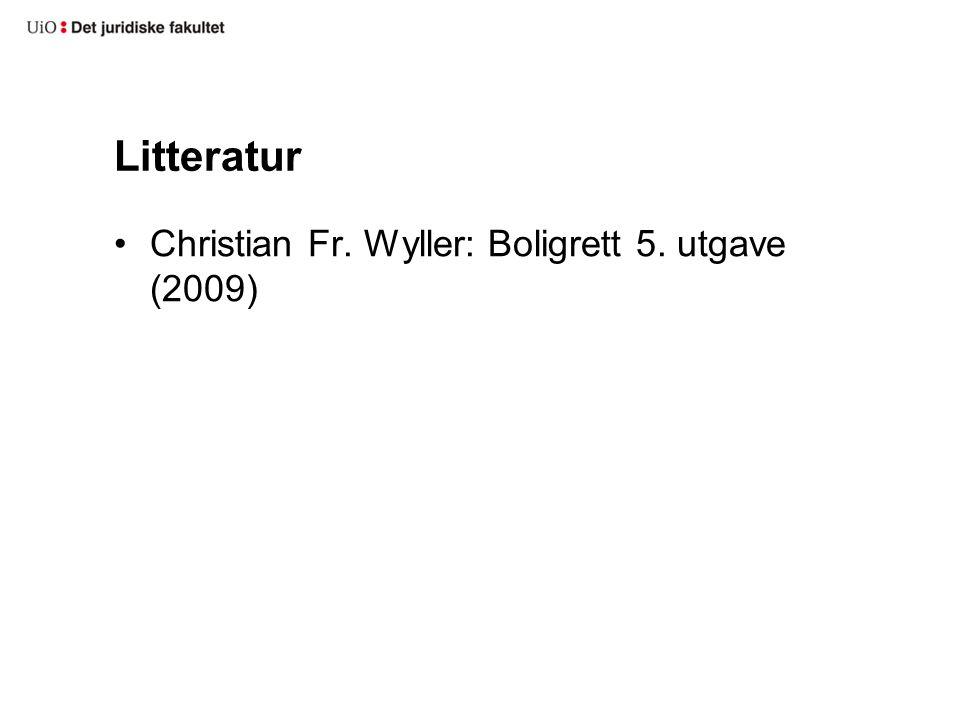 Litteratur Christian Fr. Wyller: Boligrett 5. utgave (2009)