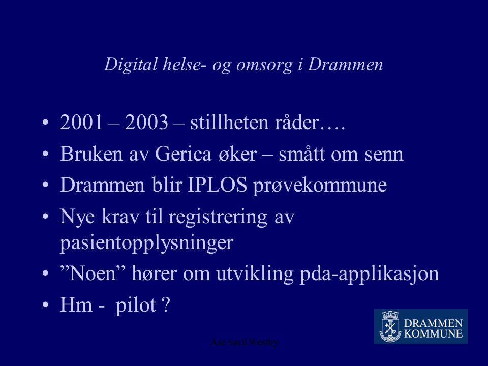 Åse Sørli Westby Hjemmehjelpere og Psion håndterminaler Sommeren 2001 Konklusjon : Denne teknologien og disse menneskene går ikke sammen, løsningen gi