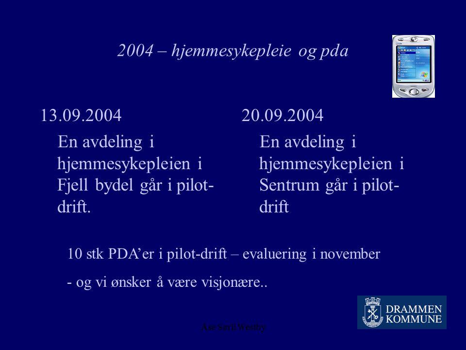 Åse Sørli Westby 2004 – hjemmesykepleie og pda Brukerveiledning :