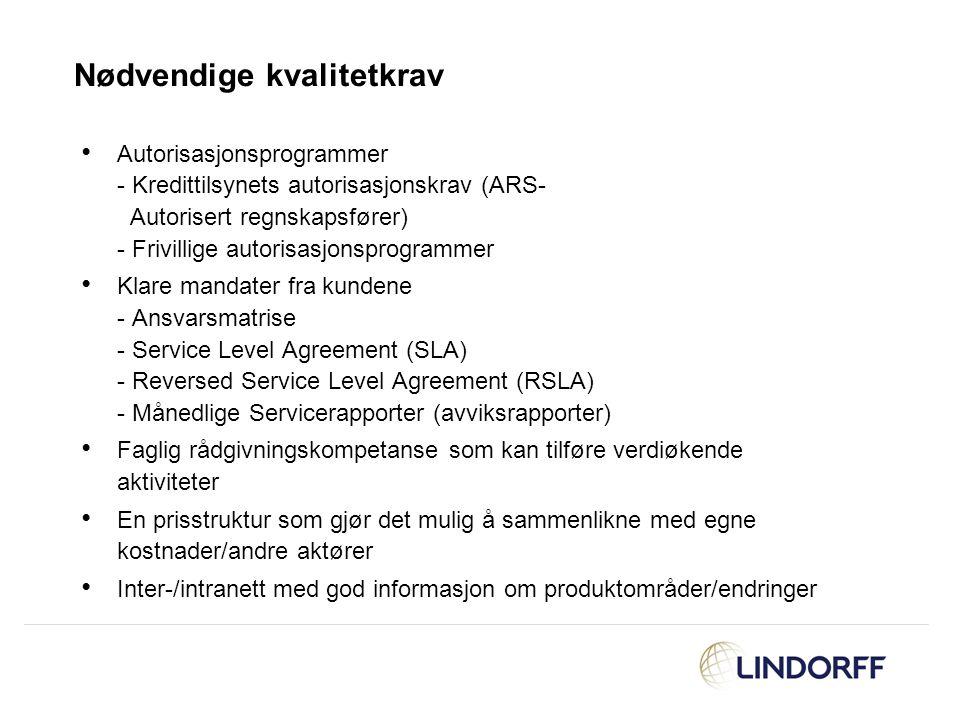 Autorisasjonsprogrammer - Kredittilsynets autorisasjonskrav (ARS- Autorisert regnskapsfører) - Frivillige autorisasjonsprogrammer Klare mandater fra k