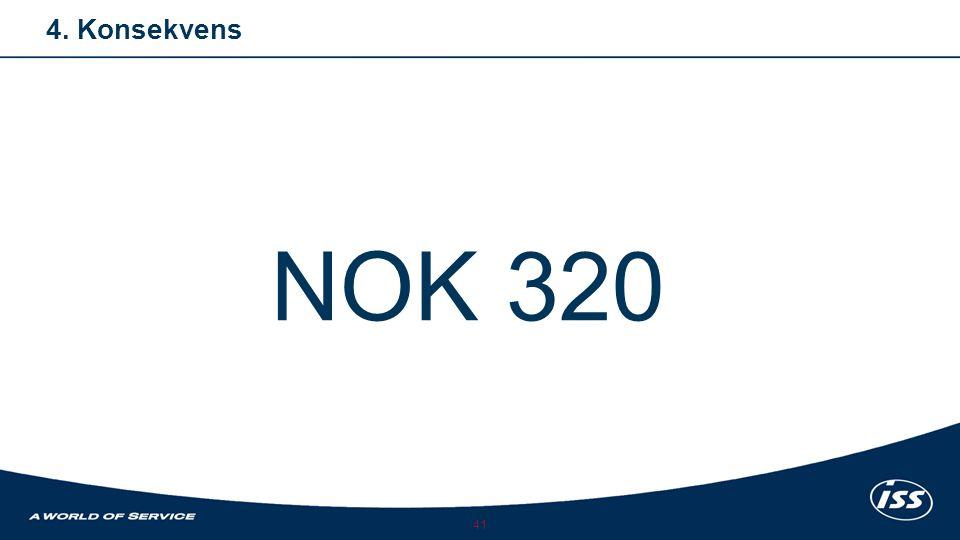 41 4. Konsekvens NOK 320