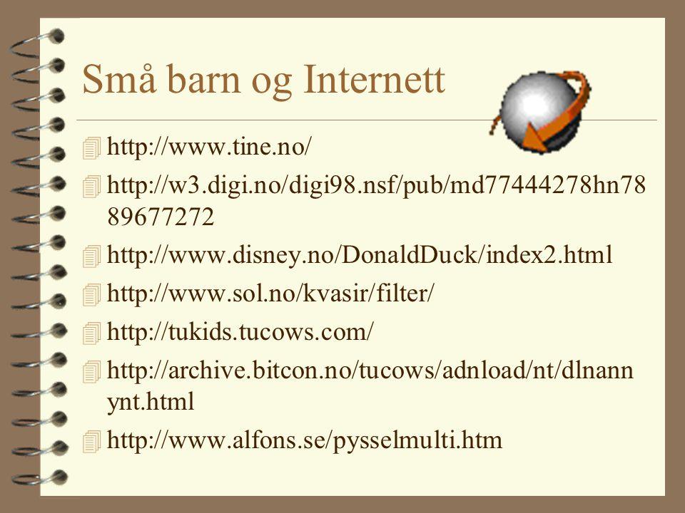 Myter -Det er umulig å finne frem på Internett. -Det er mye søppel på Internett.