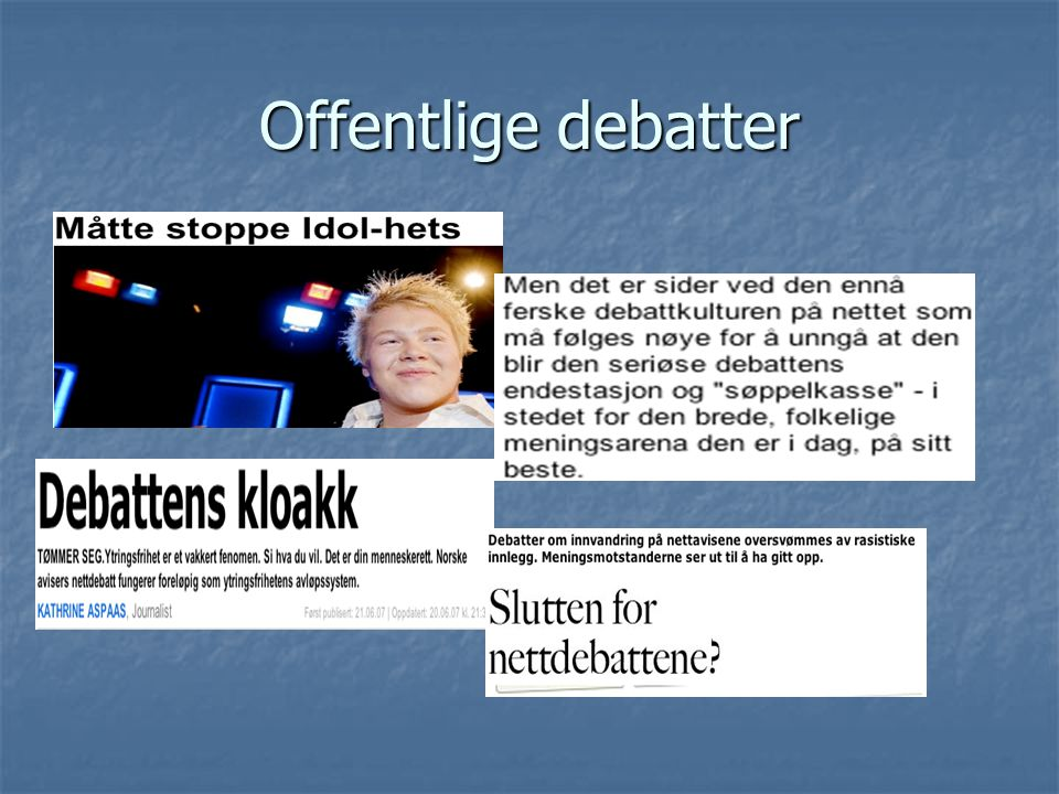 Offentlige debatter